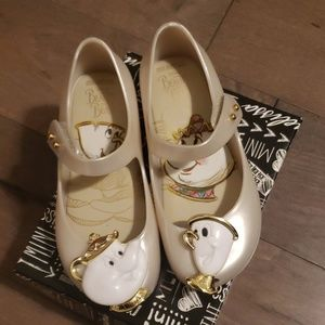 Size 10, Mini Melissa shoes, Beauty and the Beast
